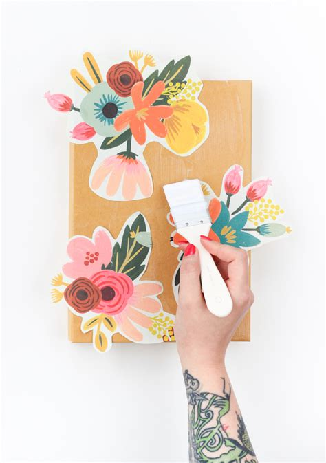 Decoupage Wrapping Paper - diy floral decoupage storage box the crafted
