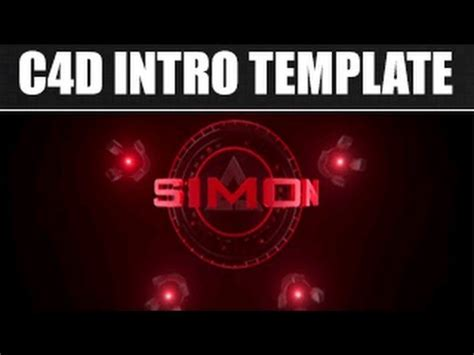 Free 3d Intro 8 Free Cinema 4d Intro Template Free Download Youtube Cinema 4d Intro Templates Free