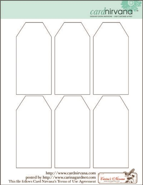 blank tag printable free clipart pinterest