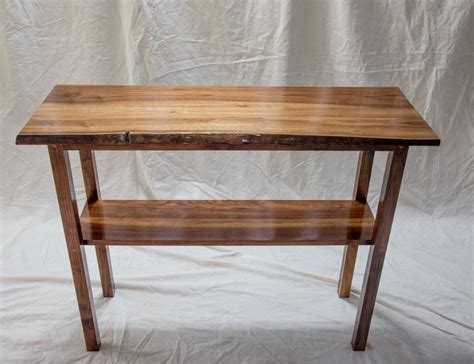 handmade live edge black walnut console table by blackdog