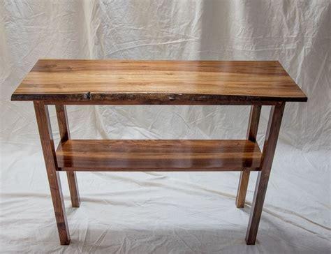 handmade live edge black walnut console table by blackdog