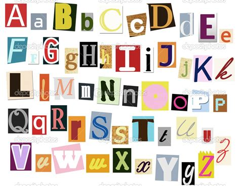 printable magazine letters typeface clipart newspaper cutout pencil and in color