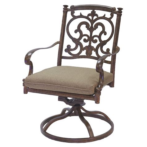 Swivel Rocking Patio Chair Patio Furniture Rocker Swivel Cast Aluminum Chairs Set 2 Santa Barbara