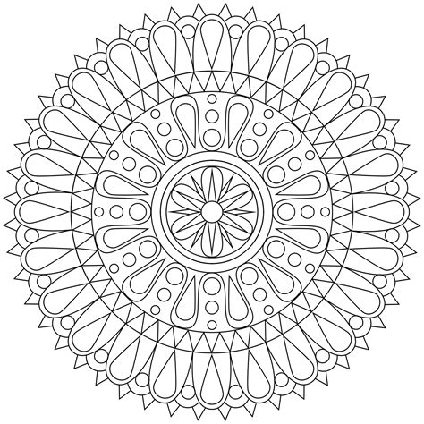 free coloring pages of intricate mandalas