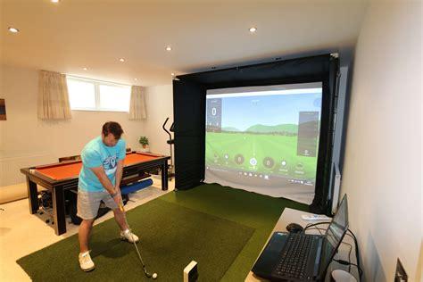 golf swing simulator basement skytrak golf simulator golf academy