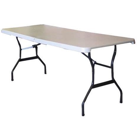 Folding 6 Foot Table 6 Ft Folding Table 6 Ft Showgoer Folding Table Foldable Tables Trade Show Accessories 6 Foot