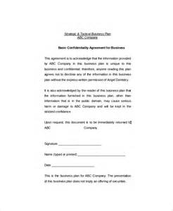 business confidentiality agreement template 11 basic confidentiality agreement templates free