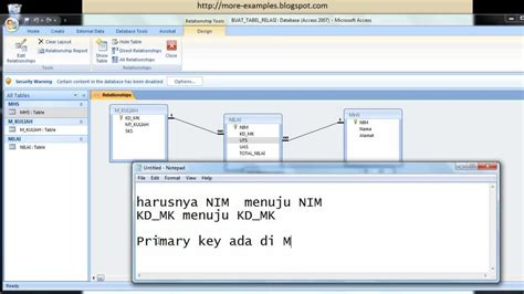 tutorial membuat query pada access tutorial microsoft access 2007 membuat relasi antar table