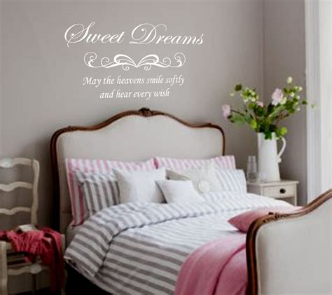 Bedroom wall decal sweet dreams removable vinyl lettering