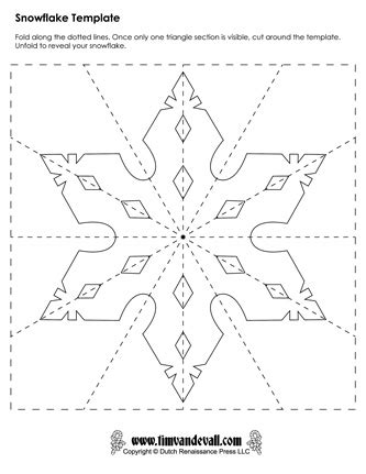paper snowflake templates for christmas holiday crafts