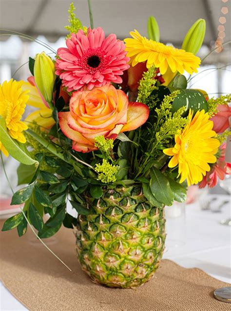 flower arrangement pictures with theme 25 best ideas about pineapple centerpiece on pinterest