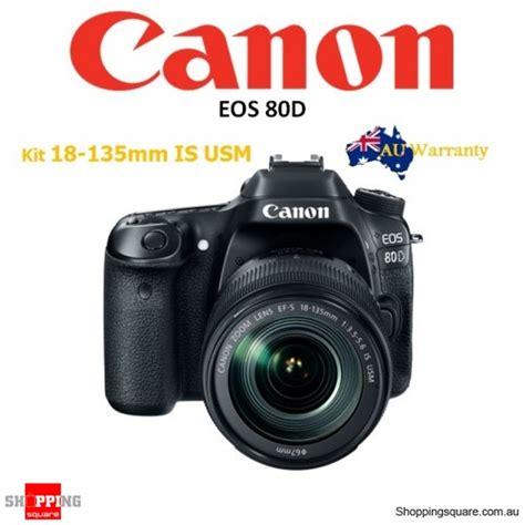 Kamera Canon Eos 80d Kit 18 135mm Is Nano Usm Paketan Garansi Resmi canon eos 80d kit ef s 18 135mm f 3 5 5 6 nano usm is dslr digital shopping
