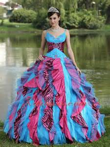 colorful quinceanera dresses 2013 pink and black zebra print quinceanera dress with