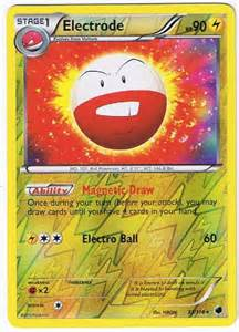 Electrode 33 116 reverse holo foil rare b amp w plasma freeze pokemon card
