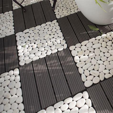 lot de 4 dalles clipsables composite gris l 30 x l 30 cm