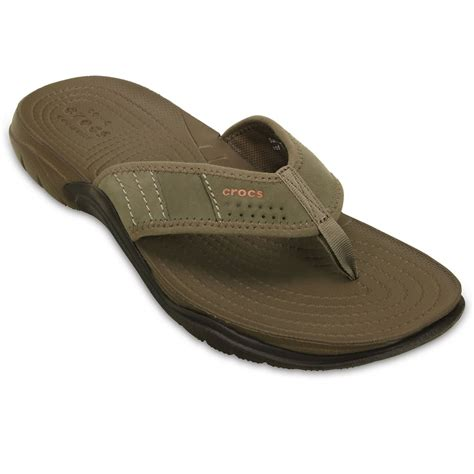 mens crocs sandals crocs swiftwater flip mens sandals charles clinkard