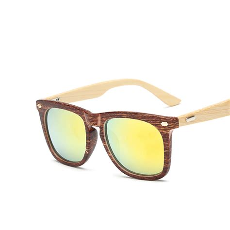 New 2016 Bamboo Sunglasses Wooden Glasses Brand Designer Ori 2016 new bamboo sunglasses wooden sun glasses