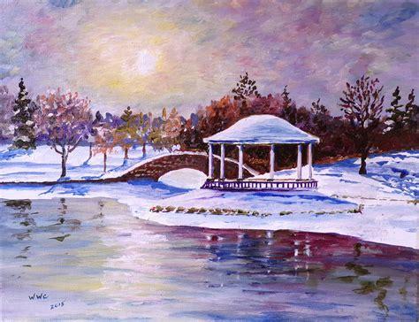 landscape syracuse ny william christopherson syracuse onondaga park winter canvas painting artwork