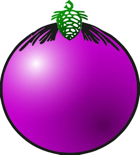 Bauble Clipart purple bauble clip at clker vector clip