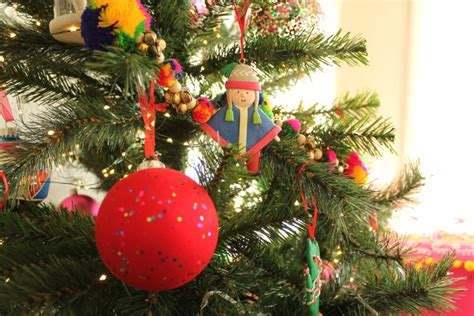 kitsch christmas decorations and a new children s tree