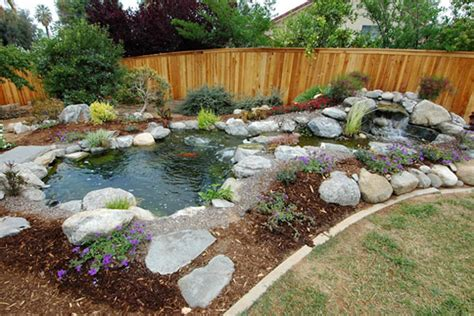 Backyard Pond Landscaping Ideas Garden Design Ideas Preserve Backyards Ideas Landscape An Easy Task To Commence