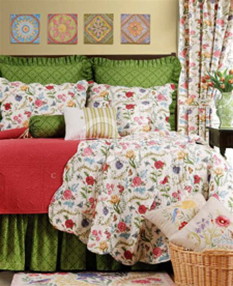 C F Quilts by The Embroidered Garden By C F Quilts Beddingsuperstore