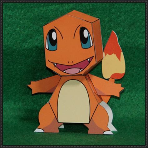Charmander Papercraft - simple version charmander free papercraft