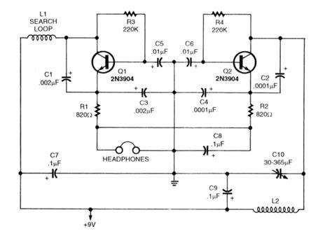 metal detector circuit diagram metal detector schematic circuit diagram 60minutemetal