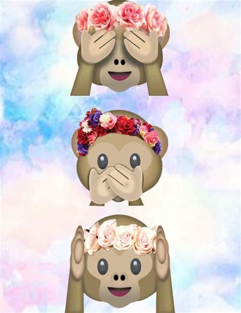 imagenes wasap monos papel de parede emojis