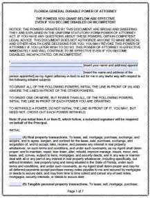 free printable durable power of attorney template free durable power of attorney florida form pdf template