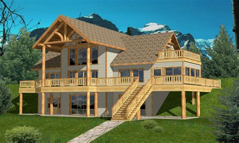 hillside cabin plans hillside house plans craftsman house hillside plans lake