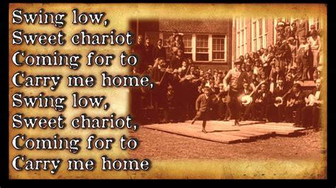 swing low sweet chariot lyrics quot swing low sweet chariot quot bluegrass gospel hymn with