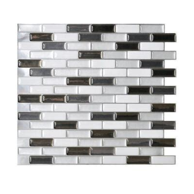 smart tiles 9 10 in x 10 20 in mosaic adhesive