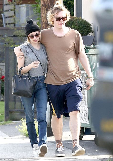 evan peters makes little style effort to impress emma