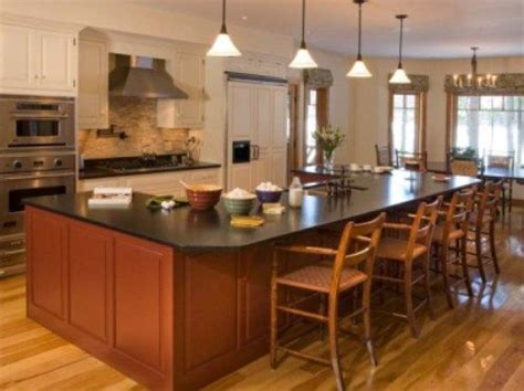 kitchen island with table seating 17 best images about kitchen islands on