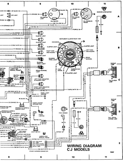 cj7 wiring harness diagram cj7 free engine image for