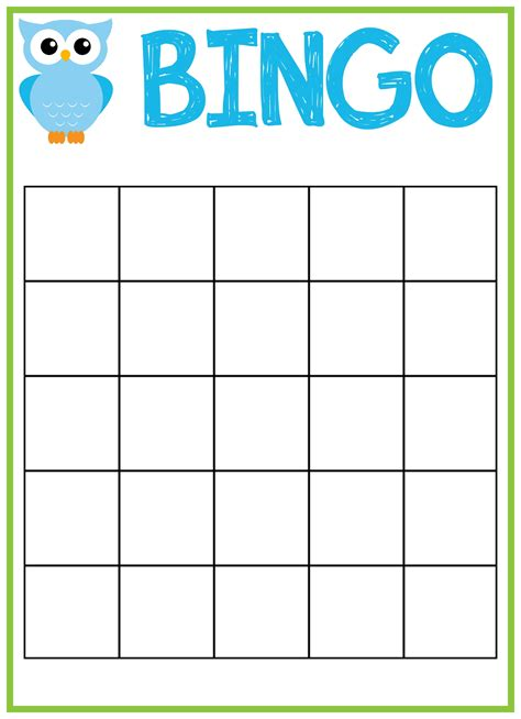 bingo card template printable bingo card template beepmunk