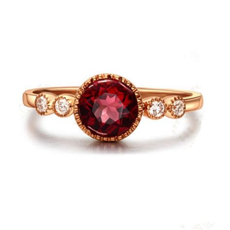 ruby ring antique gold ruby ring