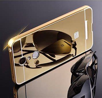 Xiaomi Redmi Note 3 Alumunium Bumper Mirror Free Tempered Glass kaira luxury metal bumper acrylic mirror back cover
