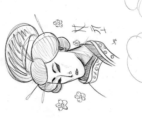geisha sketch by jmcquade111 on deviantart