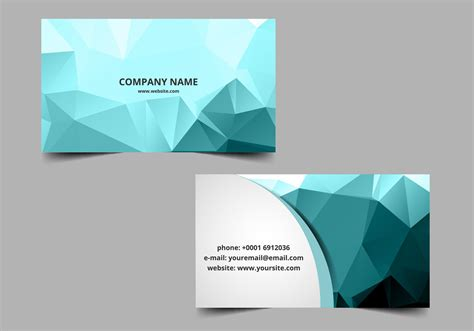 make visiting card free vector polygon visiting card free vector