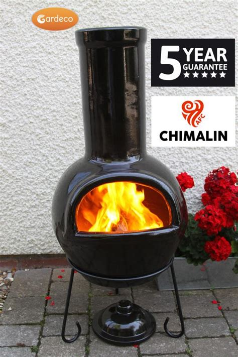 chiminea black green