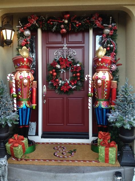traditional christmas decorations home reviews door decorating entry traditional with swag hand front doors