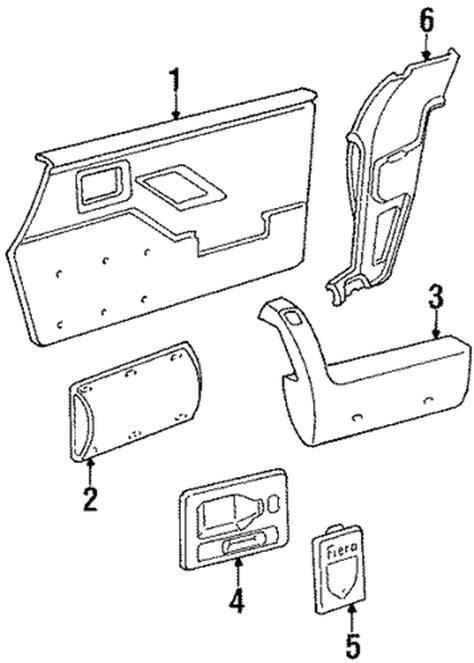 Fiero Interior Parts by Interior Trim Parts For 1986 Pontiac Fiero