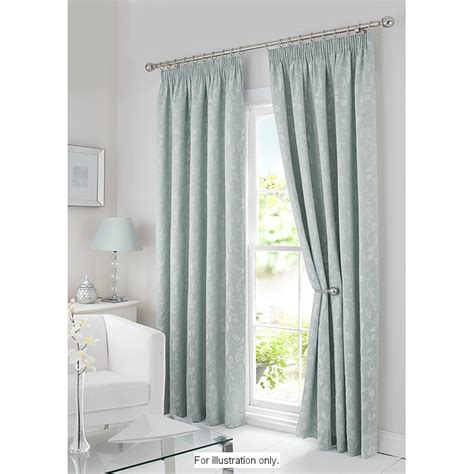 bm eden trailing leaf fully lined pleated curtains