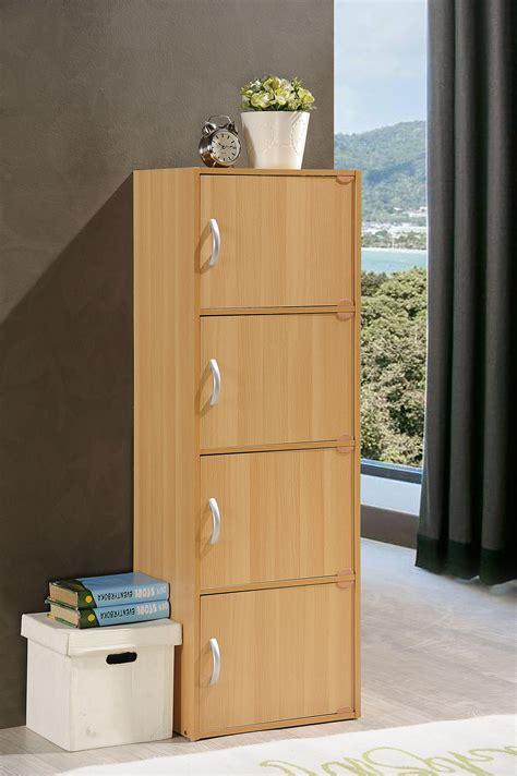 hodedah 4 door cabinet hodedah 4 door four shelves enclosed storage cabinet