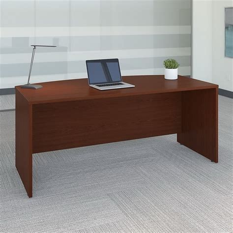 bush bow front desk bush bbf series c 72w bow front desk shell in mahogany