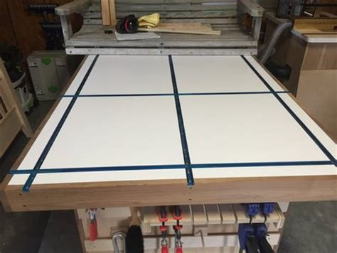 and track table assembly table with t track top by peteyb lumberjocks