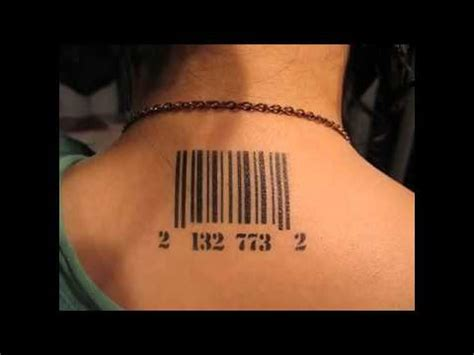 bar tattoos barcode designs