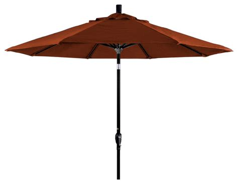 9 Aluminum Market Umbrella Push Tilt Black Sunbrella Canvas Patio Umbrella
